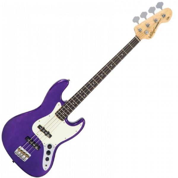 VINTAGE VJ74PL VJ74 REISSUED BASS GUITAR - PURPLE - New